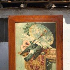 Arte: CUADRO DE JULIETA Y ROMEO ESTAMPACIÓN A COLOR-OLEOGRAFIA. Lote 214705936