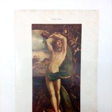 Arte: SAN SEBASTIAN POR DOSSO DOSSI - LAMINA ESPASA C.1900. Lote 215463280