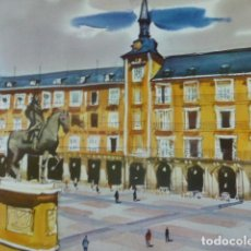 Arte: MADRID PLAZA MAYOR CROMOLITOGRAFIA 20,5 X 22 CMTS. Lote 216931845