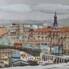Arte: BILBAO AYUNTAMIENTO CROMOLITOGRAFIA 20,5 X 22 CMTS. Lote 216932383