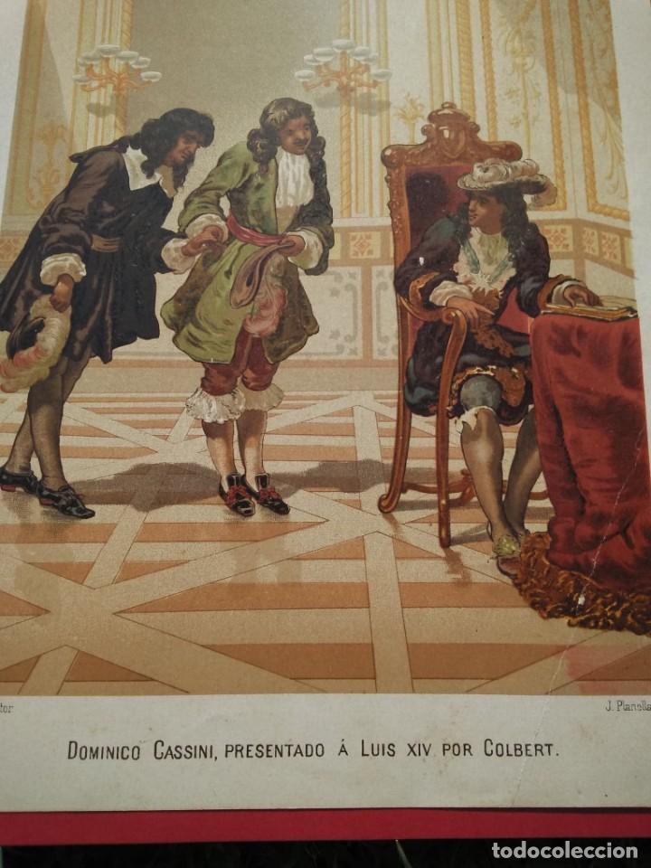 DOMINICO CASSINI, PRESENTADO A LUIS XIV POR COLBERT (Arte - Cromolitografía)