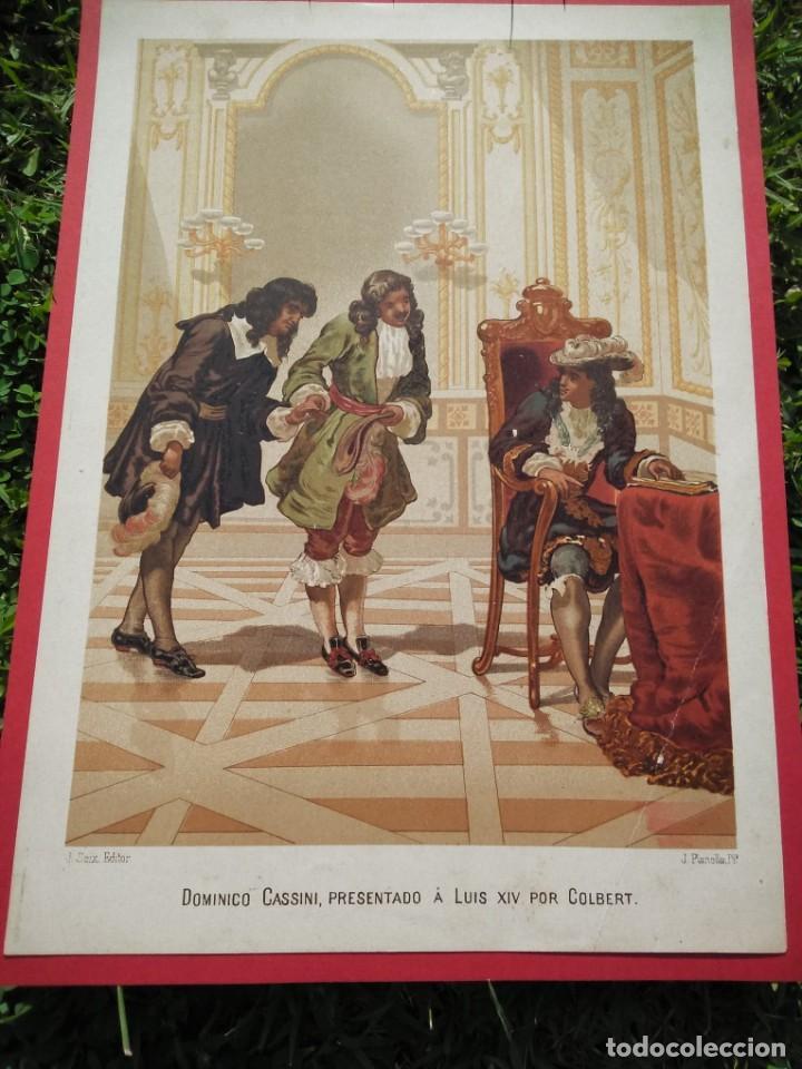 Arte: Dominico Cassini, presentado a Luis XIV por Colbert - Foto 2 - 217823847