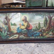 Arte: ANTIGUA Y PRECIOSA CROMOLITOGRAFÍA, CON MARCO DE LA ÉPOCA , 98 X 51 CM. Lote 218885851