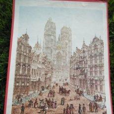 Arte: CROMOLITOGRAFÍA ANTIGUA: CATHEDRAL - BRUSSELS, BY JOHN CONEY. Lote 40576795