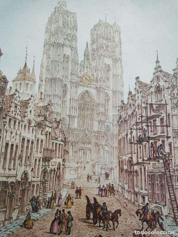 Arte: Cromolitografía antigua: Cathedral - Brussels, by John Coney - Foto 8 - 40576795