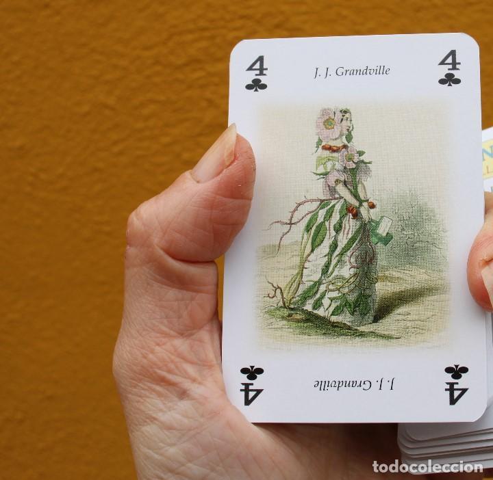 Arte: Las flores animadas, de J. J. Grandville (S. XIX), en baraja de póquer - Foto 8 - 221901851