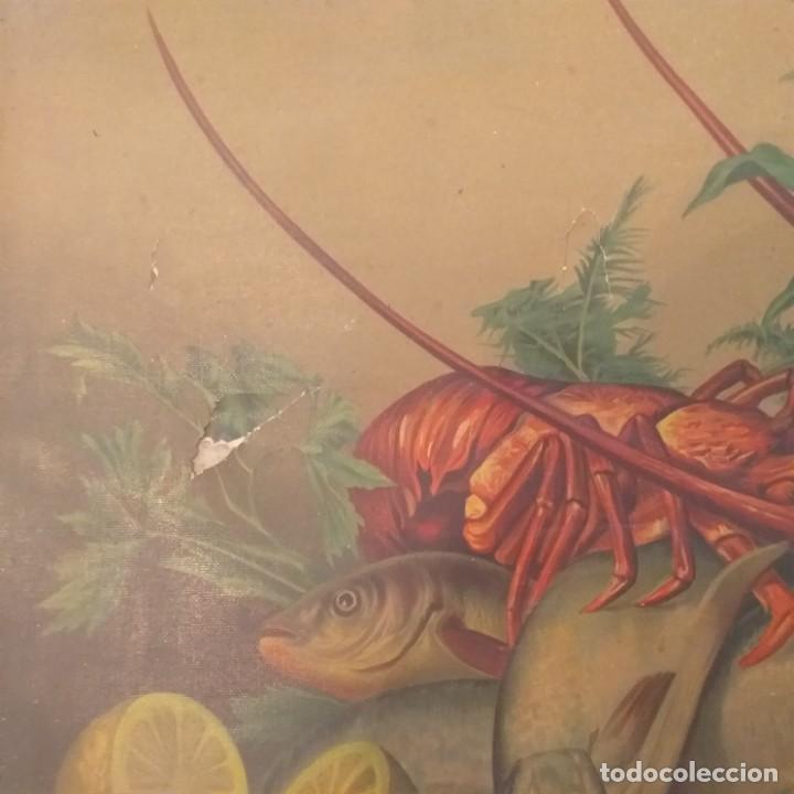 Arte: Bodegón de pescados. Cromolitografía . - Foto 2 - 224101175