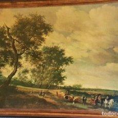 Arte: ESCUELA HOLANDESA S.XVIII MAGNÍFICA LÁMINA CUARTEADA , PERFECTA DECORACIÓN (73 X 100) AÑOS 70. Lote 232560580