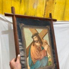 Art: ANTIGUA CROMOLITOGRAFIA ENMARCADA JESUS!. Lote 236801775
