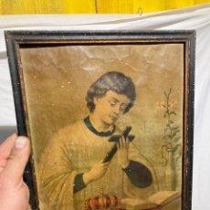 Art: ANTIGUA CROMOLITOGRAFIA RELIGIOSA!. Lote 236817020