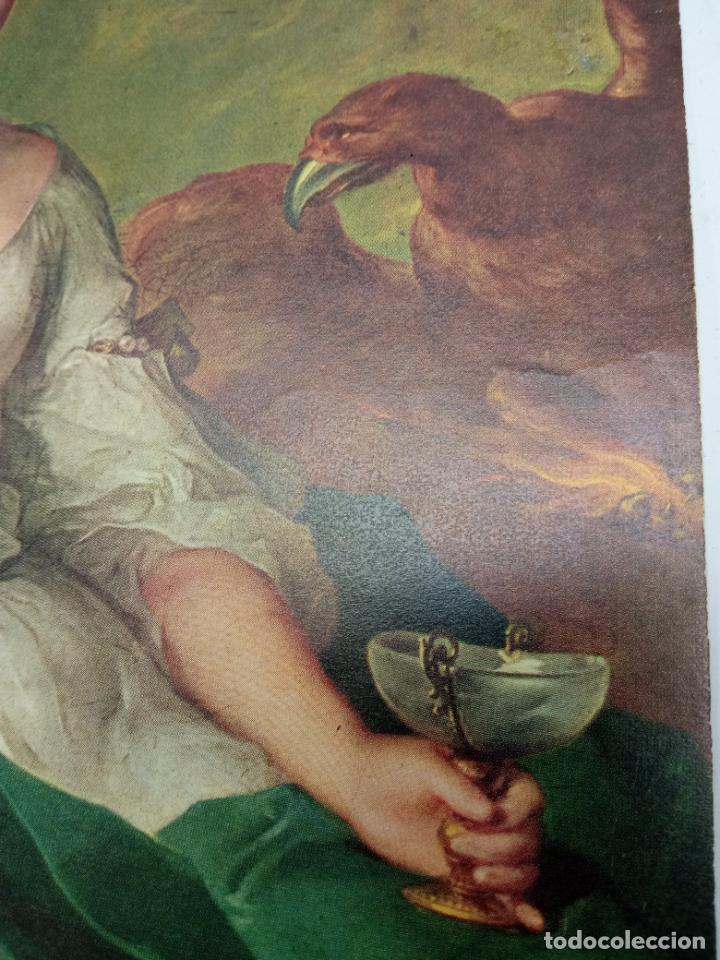 Arte: antigua bella lamina cromolitográfica Ganimedes - Foto 2 - 237132600