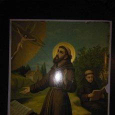 Arte: CROMOLITOGRAFIA ANTIGUA DE SAN FRANCISCO DE ASIS. S. XIX - XX. Lote 240538165