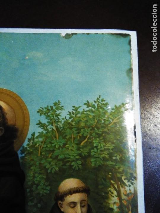 Arte: Cromolitografia antigua de San Francisco de Asis. S. XIX - XX - Foto 9 - 240538165