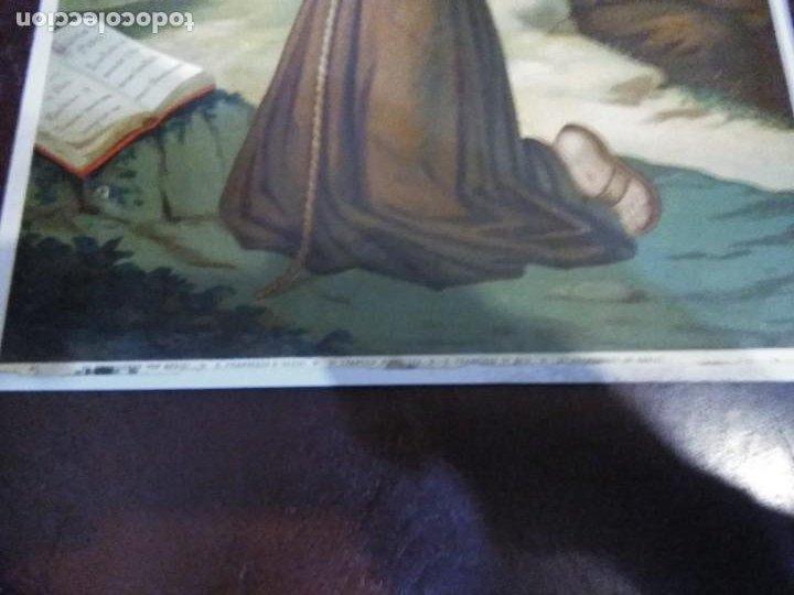 Arte: Cromolitografia antigua de San Francisco de Asis. S. XIX - XX - Foto 10 - 240538165