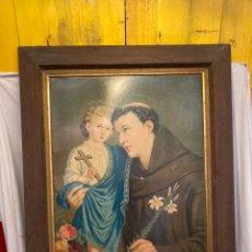 Arte: ANTIGUA Y GRAN CROMOLITOGRAFIA RELIGIOSA!. Lote 243066665