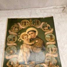 Arte: PRECIOSO CROMOLITOGRAFIA RELIGIOSA ANTIGUA!. Lote 243227115