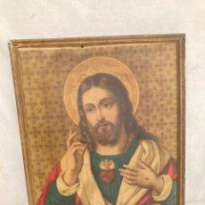 Arte: CREO QUE CROMOLITOGRAFIA RELIGIOSA ANTIGUA!. Lote 243459405