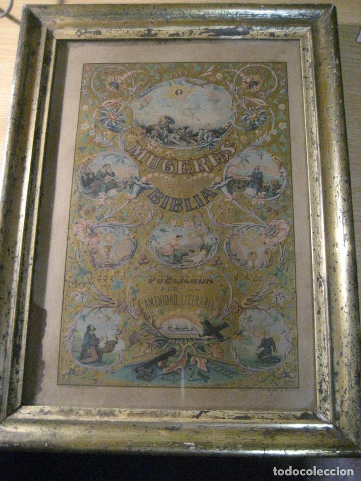 Arte: preciosa litografia del libro mugeres de la biblia . amenidad literaria . enmarcada marco mujeres - Foto 2 - 247193165