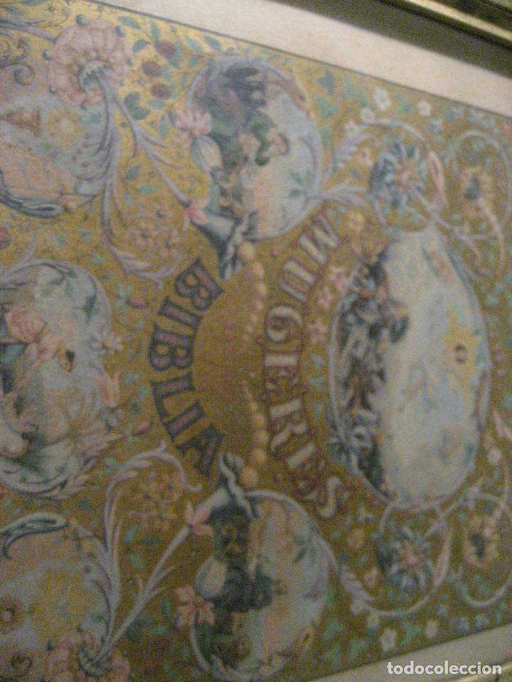 Arte: preciosa litografia del libro mugeres de la biblia . amenidad literaria . enmarcada marco mujeres - Foto 5 - 247193165
