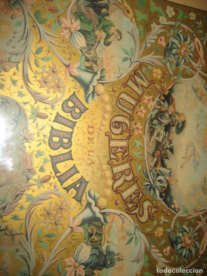 Arte: preciosa litografia del libro mugeres de la biblia . amenidad literaria . enmarcada marco mujeres - Foto 6 - 247193165