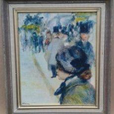 "Arte: RENOIR. ""PLACE CLICHY"" O ""PLACE PIGALLE"", C. 1880. IMPRESIÓN SOBRE LIENZO. 28X32,5 CM. Lote 247246355"