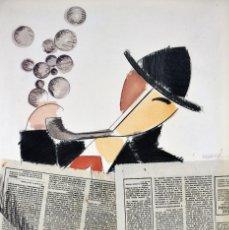 Art: MANOLO VALDÉS - LECTOR DE PERIÓDICO (1987). Lote 247620655