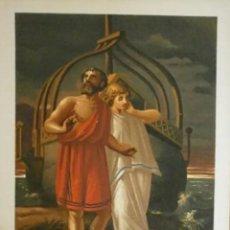 Arte: CROMOLITOGRAFIA CON LA IMAGEN DE EL DILUVIO GRIEGO . SIGLO XIX.. Lote 248019725