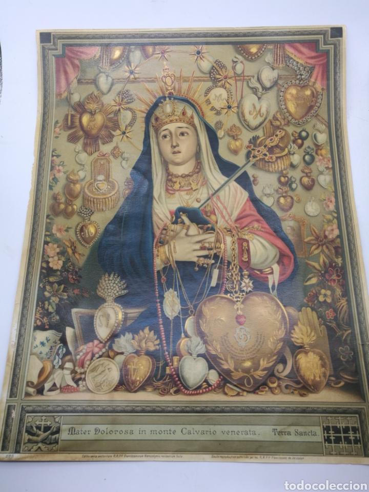 LAMINA MATER DOLOROSA IN MONTE CALVARIO VENERATA (Arte - Cromolitografía)