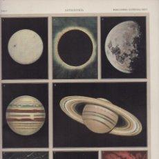 Art: LAMINA CROMOLITOGRAFIA. ASTRONOMIA. LAM. L Y LL. A DOS CARAS. 32,5X23,5 LAMART-023. Lote 248977910