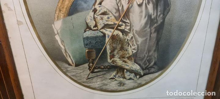 Arte: 4 ALEGORÍAS A LAS ARTES. LITOGRAFÍA SOBRE PAPEL. FRANÇOIS DELARUE. SIGLO XIX. - Foto 4 - 253421945