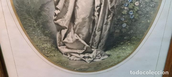 Arte: 4 ALEGORÍAS A LAS ARTES. LITOGRAFÍA SOBRE PAPEL. FRANÇOIS DELARUE. SIGLO XIX. - Foto 7 - 253421945