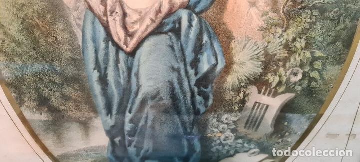 Arte: 4 ALEGORÍAS A LAS ARTES. LITOGRAFÍA SOBRE PAPEL. FRANÇOIS DELARUE. SIGLO XIX. - Foto 9 - 253421945