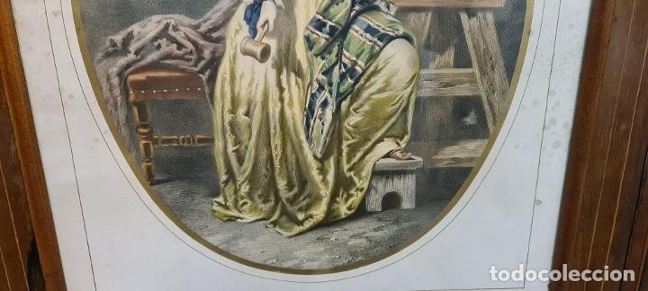 Arte: 4 ALEGORÍAS A LAS ARTES. LITOGRAFÍA SOBRE PAPEL. FRANÇOIS DELARUE. SIGLO XIX. - Foto 17 - 253421945