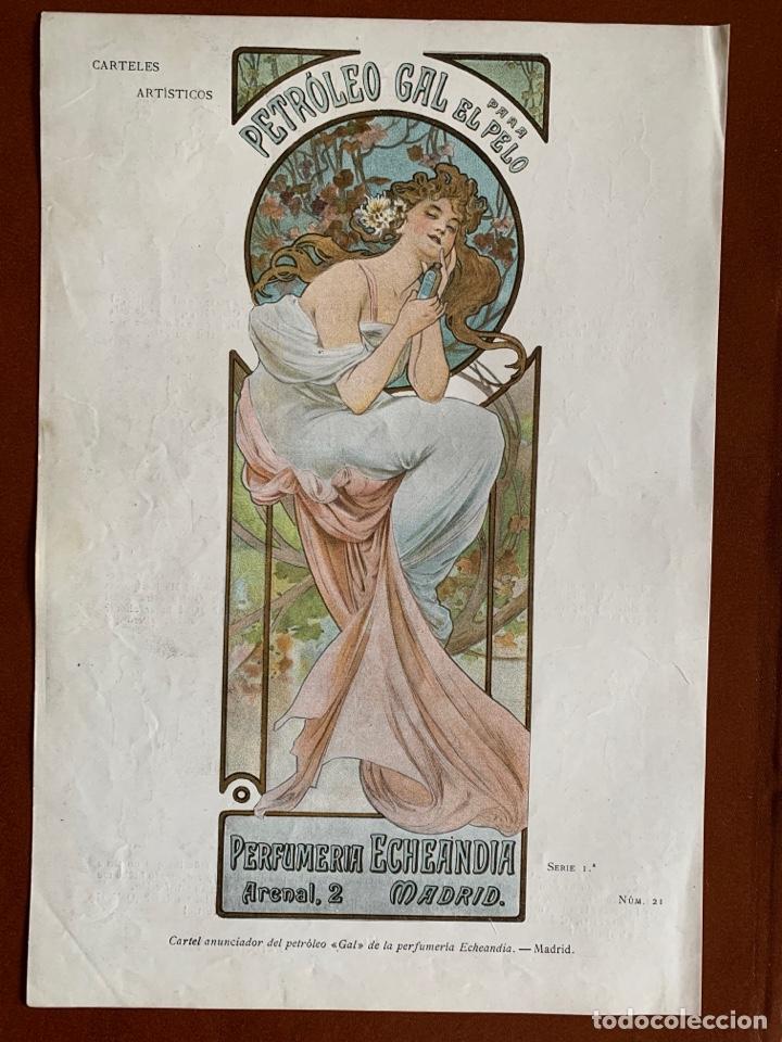 """RESERVADO.ALPHONSE MUCHA. CARTEL """"PETRÓLEO GAL"""". MODERNISMO. ART NOUVEAU. 1901. CROMOLITOGRAFIA (Arte - Cromolitografía)"""