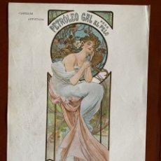 "Art: RESERVADO.ALPHONSE MUCHA. CARTEL ""PETRÓLEO GAL"". MODERNISMO. ART NOUVEAU. 1901. CROMOLITOGRAFIA. Lote 253583875"