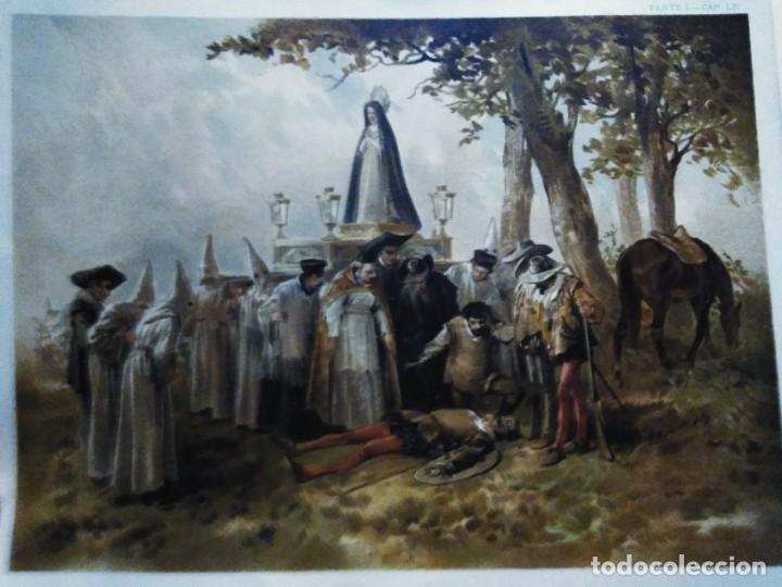 Arte: 3 Cromolitografias antiguas de Don Quijote de la Mancha - Foto 9 - 253746380