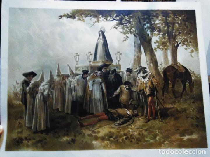 Arte: 3 Cromolitografias antiguas de Don Quijote de la Mancha - Foto 8 - 253746380