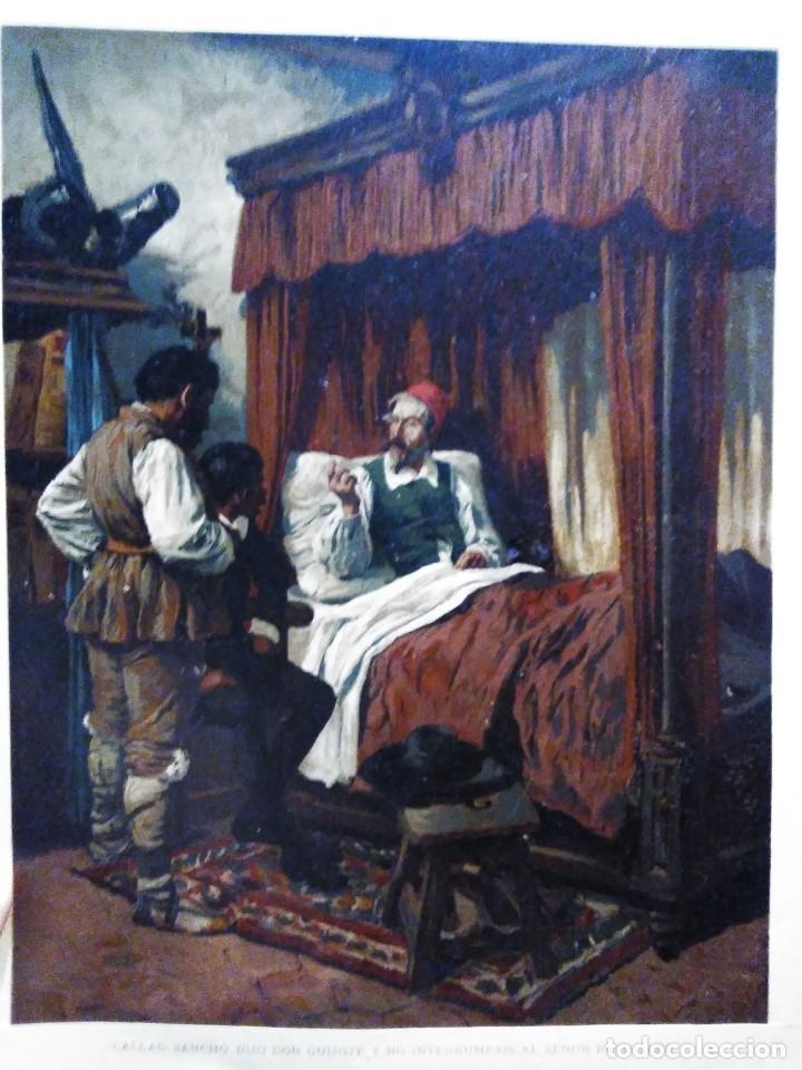 Arte: 3 Cromolitografias antiguas de Don Quijote de la Mancha - Foto 5 - 253746380