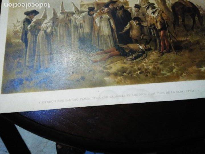 Arte: 3 Cromolitografias antiguas de Don Quijote de la Mancha - Foto 10 - 253746380