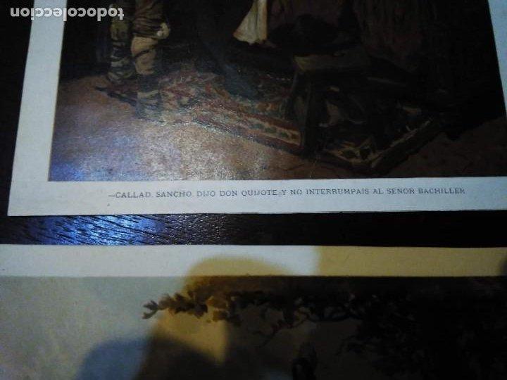 Arte: 3 Cromolitografias antiguas de Don Quijote de la Mancha - Foto 12 - 253746380