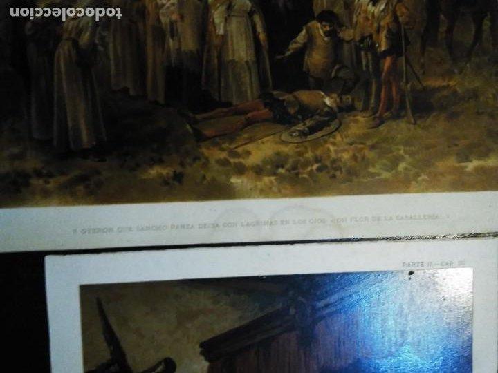 Arte: 3 Cromolitografias antiguas de Don Quijote de la Mancha - Foto 11 - 253746380