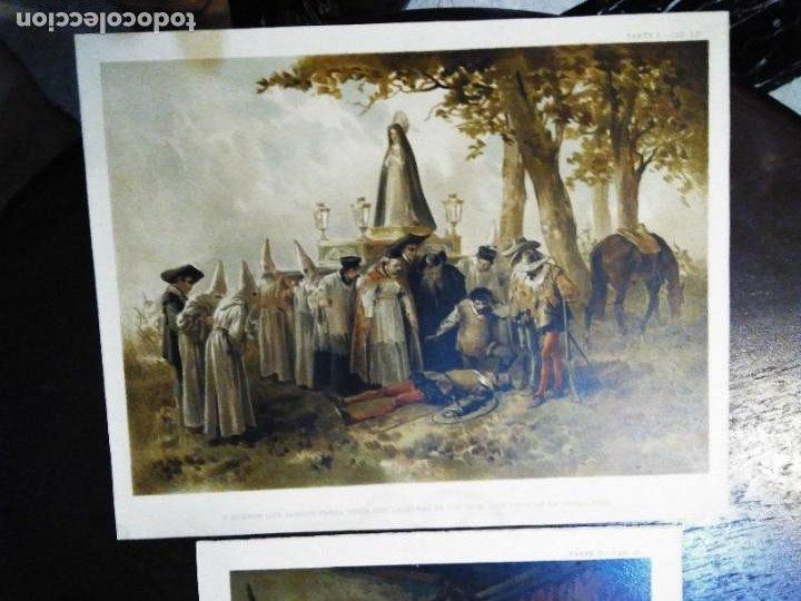 Arte: 3 Cromolitografias antiguas de Don Quijote de la Mancha - Foto 7 - 253746380