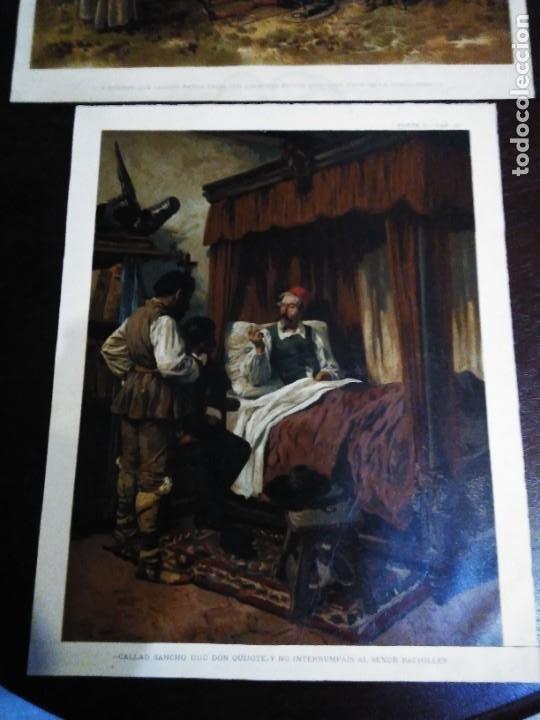 Arte: 3 Cromolitografias antiguas de Don Quijote de la Mancha - Foto 3 - 253746380