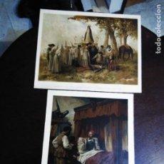 Arte: 2 CROMOLITOGRAFIAS ANTIGUAS DE DON QUIJOTE DE LA MANCHA. Lote 253746380