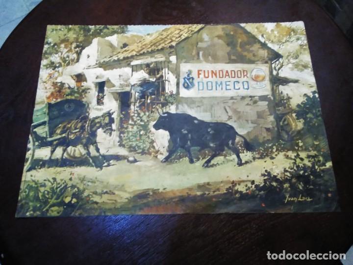 Arte: Cromolitografia antigua de JUAN LARA - FUNDADOR DOMECQ - Foto 2 - 184760088