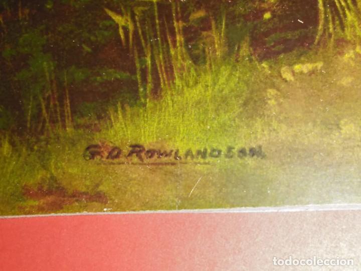 Arte: Dos grabados, cacería hípica, firmados George Derville Rowlandson - Foto 5 - 254993025