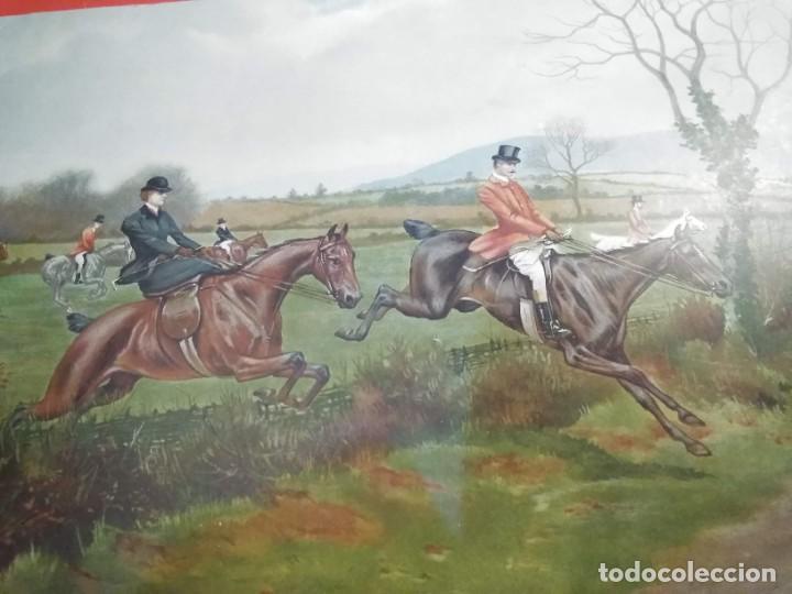 Arte: Dos grabados, cacería hípica, firmados George Derville Rowlandson - Foto 6 - 254993025
