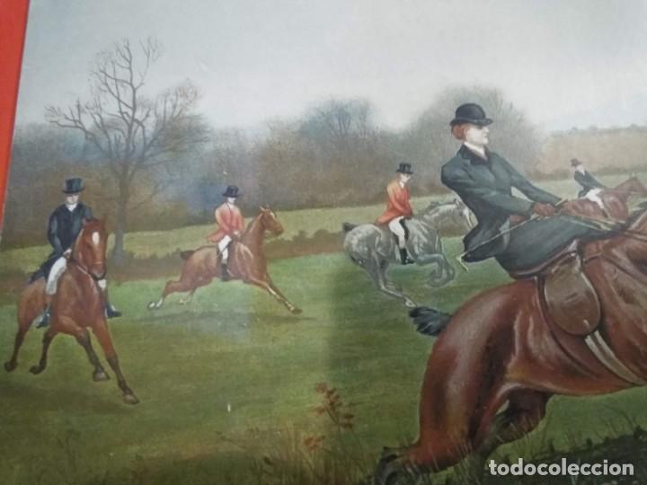 Arte: Dos grabados, cacería hípica, firmados George Derville Rowlandson - Foto 10 - 254993025