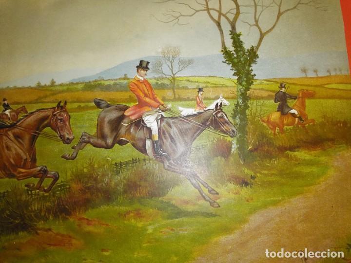 Arte: Dos grabados, cacería hípica, firmados George Derville Rowlandson - Foto 7 - 254993025