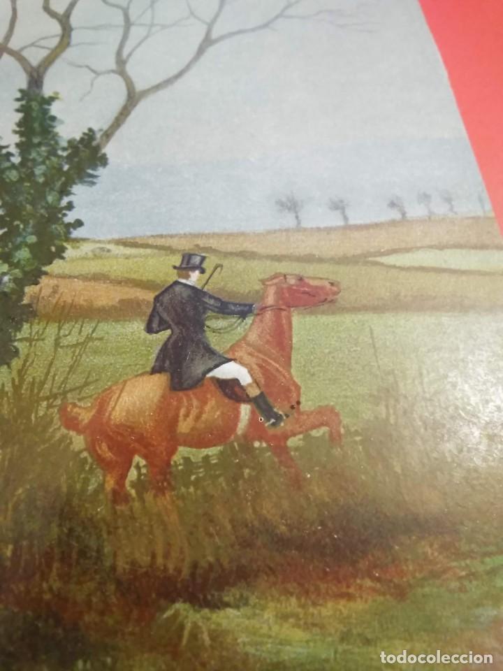 Arte: Dos grabados, cacería hípica, firmados George Derville Rowlandson - Foto 13 - 254993025